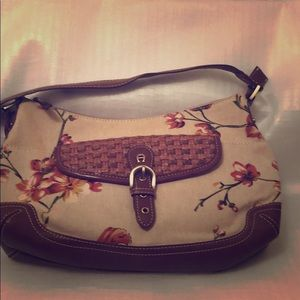 ETIENNE AIGNER VINTAGE FLOWERED PURSE PREOWNED